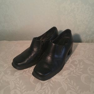 THOM MCAN Leather Chunky Heel Shoes